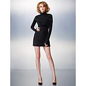 Funda / Columna Cuello Alto Corta / Mini Jersey Fiesta de Cóctel Vestido con Cuentas por TS Couture®
