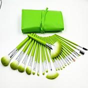 24PCS新緑プロの高品質化粧ブラシセット