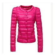 moda cuello redondo informal cálido abrigo de tyt mujeres