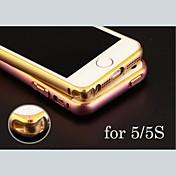 metálico cáscara de parachoques del marco personalizado grabado exquisito oro-atado para el iphone 5 / 5s (oro, plata, negro, rosa)