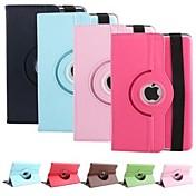 360⁰ Casos/Cubiertas inteligentes (Cuero PU , Rojo/Negro/Blanco/Verde/Azul/Marrón/Rosado/Morado/Rosa/Azul Marino) - de Color Puro para ManzanaiPad