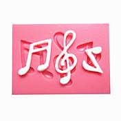 砂糖菓子のための台所のベーキングのための16分音符フォンダンケーキ金型のチョコレートの金型をシンコペーションの音楽ノート