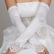 encaje estilo satén ópera longitud guante / guantes de noche elegante estilo