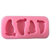 赤ちゃんの足シリコーン型のフォンダンチョコレートケーキのデコレーションツール·フォルマ·デ·シリコーンパラボーロ