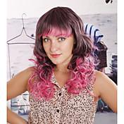 Mujer Pelucas sintéticas Ondulado Arco iris Pelucas para Disfraz