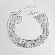 chapado en plata informal enlace / pulseras y brazaletes de la pulsera de cadena de pulseras de la amistad de la venta caliente