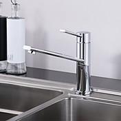 コンテンポラリー バー/準備 デッキマウント タッチ/タッチレス セラミックバルブ 一つ シングルハンドルつの穴 クロム , 水栓