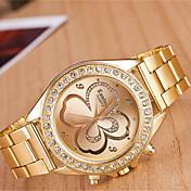 yoonheel Mujer Reloj Casual Reloj de Moda Cuarzo Metal Banda Dorado