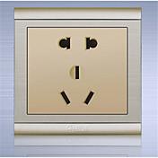 un pu 86 ocultaba oro champán cinco socket agujero, interruptor de pared panel de conexión de dos o tres