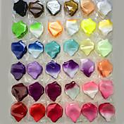 100 piezas de pétalos de rosa artificiales para la decoración del partido de la boda multicolor opcional
