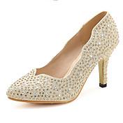 Mujer Zapatos Sintético Primavera / Verano / Otoño Tacón Stiletto Pedrería Plata / Oro / Boda / Fiesta y Noche / Vestido / Fiesta y Noche
