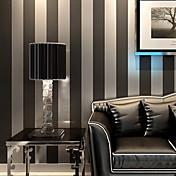 Rayas Fondo de pantalla Para el hogar Contemporáneo Revestimiento de pared , Papel no tejido Material adhesiva requerida papel pintado ,