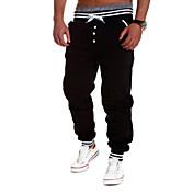 男性用 スリム スウェットパンツ パンツ, コットン 弾性ある プリント