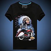 MEN Tシャツ ( コットン ) カジュアル/お洒落/パーティー/仕事 ラウンド - 半袖