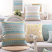 綿/リネン枕カバー、幾何学的な現代/現代のカントリースタイル