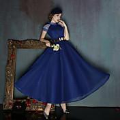 Salón Cuello Alto Hasta el Gemelo Licra Evento Formal Vestido con Cinta / Lazo Lentejuelas por Huaxirenjiao