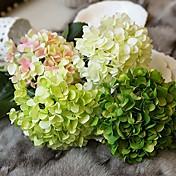 1 Rama Seda Hortensias Flor de Mesa Flores Artificiales