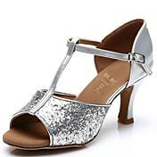 Sapatos de Dança (Prateado/Dourado) - Mulheres - Customizáveis - Latim