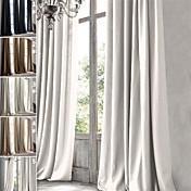 ワンパネル ウィンドウトリートメント 田園風 近代の 地中海風 バロック調 欧風 デザイナー , ソリッド リビングルーム リネン 材料 カーテンドレープ ホームデコレーション For 窓