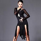 私たちはラテンダンスドレス女性パフォーマンストレーニングドレスショーツ