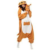 着ぐるみ パジャマ カンガルー レオタード/着ぐるみ イベント/ホリデー 動物パジャマ ハロウィーン オレンジ パッチワーク フリース きぐるみ ために 男女兼用 ハロウィーン