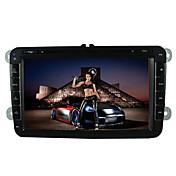 televisión analógica de 8 pulgadas de 800 x 480 Volkswagen reproductor de DVD del coche de los gps