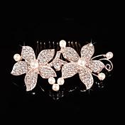 imitación perla rhinestone peine del pelo casco clásico estilo femenino