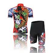 Maillot de Ciclismo con Shorts Hombre Manga Corta Bicicleta Shorts/Malla corta Camiseta/Maillot Sets de Prendas Resistente a los UV
