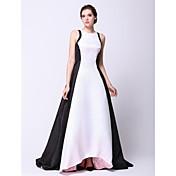 Corte en A Princesa Joya Asimétrica Tafetán Baile de Promoción Evento Formal Vestido con Plisado por TS Couture®