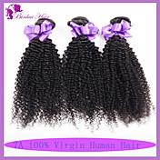 人間の髪編む マレーシアンヘア Kinky Curly 6ヶ月 3個 ヘア織り
