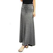 Mujer Simple Casual/Diario Maxi Faldas Primavera Otoño Un Color