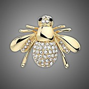 chapado en oro / diamantes de imitación broche / animal de la manera mujeres de abeja broche / de la boda / 1pc del partido