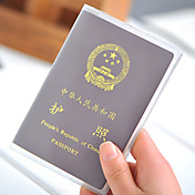 1 stk Pas- og ID-holder Pas-cover Vandtæt Støv-sikker Ultra Let (UL) Bærbar for Opbevaring under rejser PVC