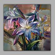手描きの 花柄/植物のリアリズム 1枚 キャンバス ハング塗装油絵 For ホームデコレーション