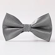 男性のパーティー/夕方の結婚式の正式なシルバーボックスの正式な蝶ネクタイ