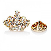 Mujer Broche Moda Joyería de Lujo Europeo Brillante Diamante Sintético Legierung Forma de Corona Plata Dorado Joyas ParaFiesta Ocasión