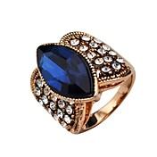 Anillos de Diseño Cristal Rosa Oro Plateado Legierung Plata Azul Oscuro Gris Lila Joyas Boda Fiesta Diario Casual 20 piezas