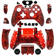 Xboxの1コントローラ用の交換用コントローラケース(赤頭蓋骨)