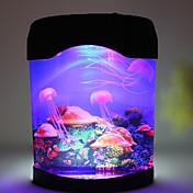 nuevo tanque de medusas decoración del hogar luz mar mundo natación lámpara de luz nocturna estado de ánimo llevado multicolor de alta