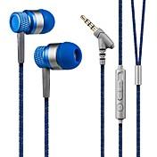 kanen estéreo de 3,5 mm de manos libres en el auricular del oído bajo auricular bajo con micrófono para teléfonos inteligentes