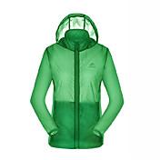 女性用 ハイキング ジャケット アウトドア 防水 速乾性 抗紫外線 高通気性 レインコート ジャケット トップス フルオープンファスナー キャンピング&ハイキング ビーチ サイクリング / バイク クロスカントリー