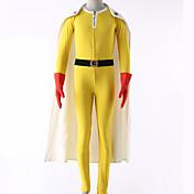 Inspirado por Un solo hombre Puñetazo Cosplay Animé Disfraces de cosplay Trajes Cosplay Un Color Leotardo Guantes Cinturón Capa Más