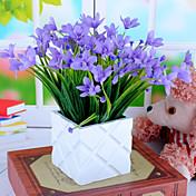 1ブランチシルク蘭の人工花の家の装飾の結婚式の供給