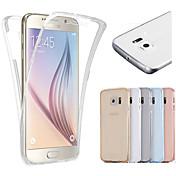 のために Samsung Galaxy S7 Edge クリア ケース フルボディー ケース ソリッドカラー TPU Samsung S7 edge / S7 / S6 edge / S6