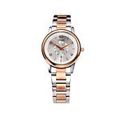 SINOBI Mujer Reloj de Moda Reloj Casual Cuarzo Calendario Resistente al Agua Aleación Banda Oro Rosa
