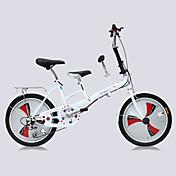 Bicicletas plegables Ciclismo 3 velocidad 20 pulgadas Unisex Adulto Doble Disco de Freno Suspensión por Muelle Monocoque OrdinarioAcero
