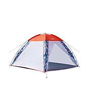 Makino 3-4人 テント トリプル キャンプテント 1つのルーム 通気性 防風 抗虫 のために 釣り ビーチ 屋外 屋内 旅行 <1000mm cm