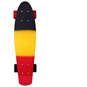 22 inch スタンダードスケートボード プラスチック Abec-11 虹色