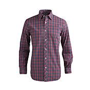 JamesEarl Hombre Cuello Camisero Manga Larga Camisa y blusa Rojo - MB1XC000501