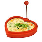 silikonové ve tvaru srdce tvaru vejce kroužek a palačinka výrobce vejce smažená na smažení omeleta vaření forma (náhodné barvy)